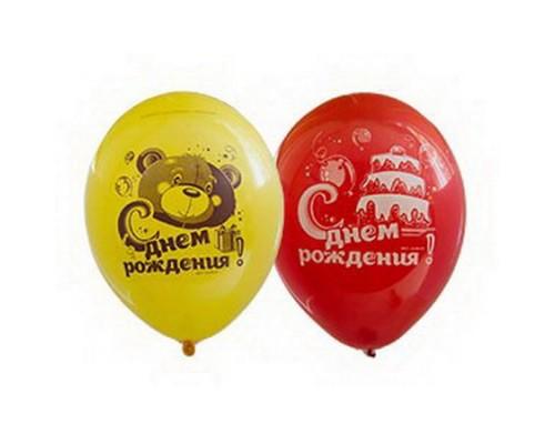 """Воздушные шары Мишка с тортом 12"""" 1шт."""