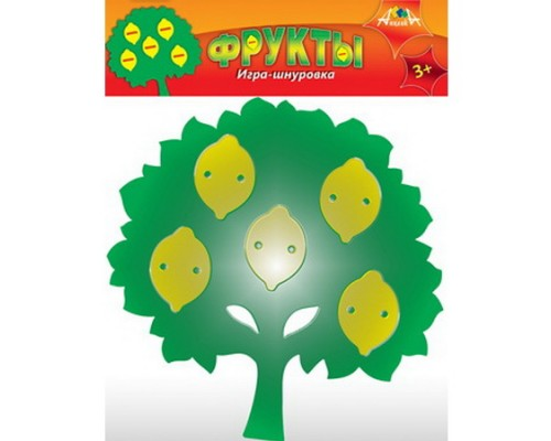 Игра-шнуровка АппликА ФРУКТЫ Лимоны