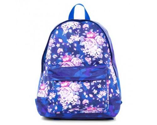 Рюкзак BASIC Цветочный принт для девочки, старшая школа