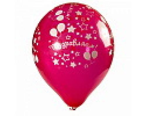 Воздушный шар №10 Поздравляем ассорти 1шт.