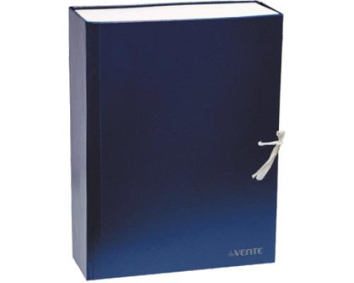 Короб архивный 100мм.deVENTE бумвинил, 2 завязки, складной, синий