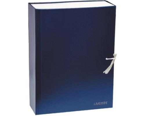 Короб архивный 120мм.deVENTE бумвинил, 2 завязки, складной, синий