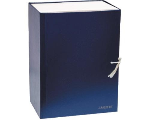 Короб архивный 150мм.deVENTE бумвинил, 2 завязки, складной, синий