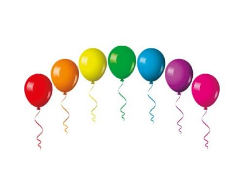 Воздушные шары 22,5см.deVENTE неоновые цвета ассорти 1шт.