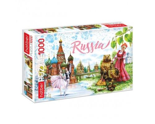 ПАЗЛ 1000 элементов Вокруг света- Россия