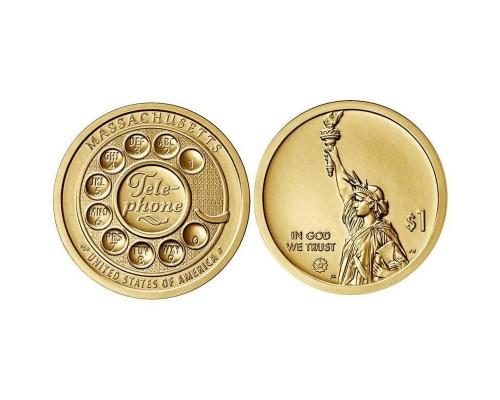 БЕЗ СКИДКИ Монета 1 доллар США Инновации 7 Телефон