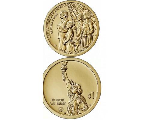 БЕЗ СКИДКИ Монета 1 доллар США Инновации 9 Септима Кларк